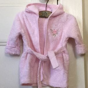 Little Girl Adorable Pink Terrycloth Robe lil rose